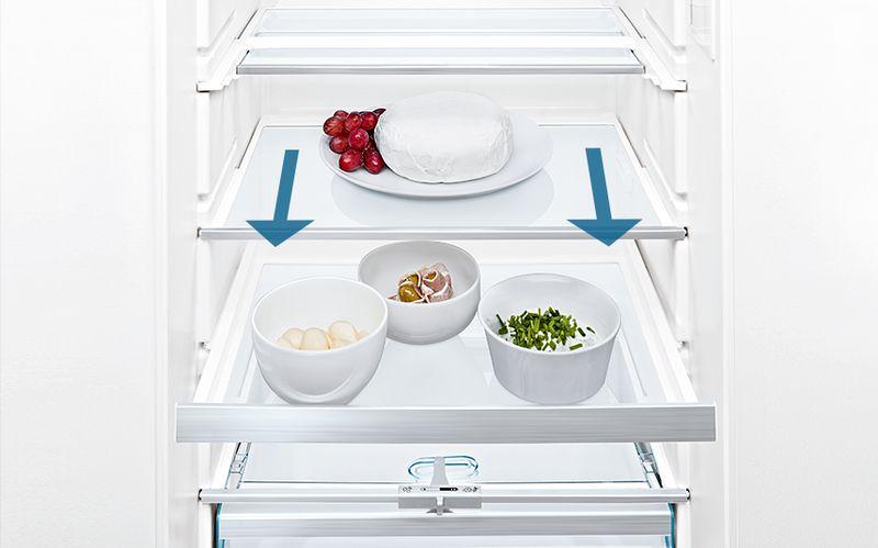 frigorífico bandejas easy access